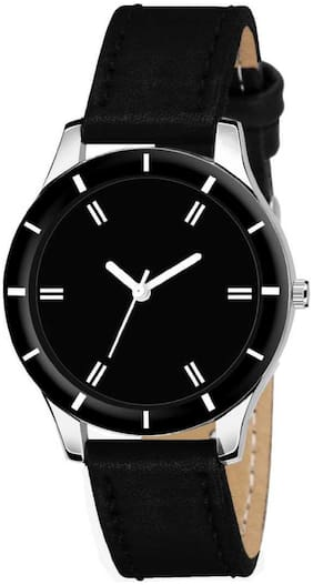 Locate New Design Premium Look Black Girls And Women Analog Watch