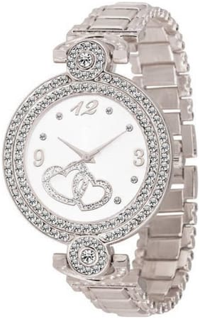Locate New Designer Trendy Double Dil Dial Silver Analog Watch