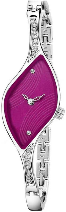 Locate New Design Premium Look Pink Dial Girls & Women Watch