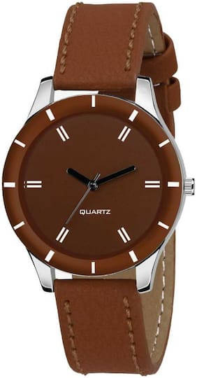 Locate New Fancy Nice Looking Cut Glass Brown Analog Watch