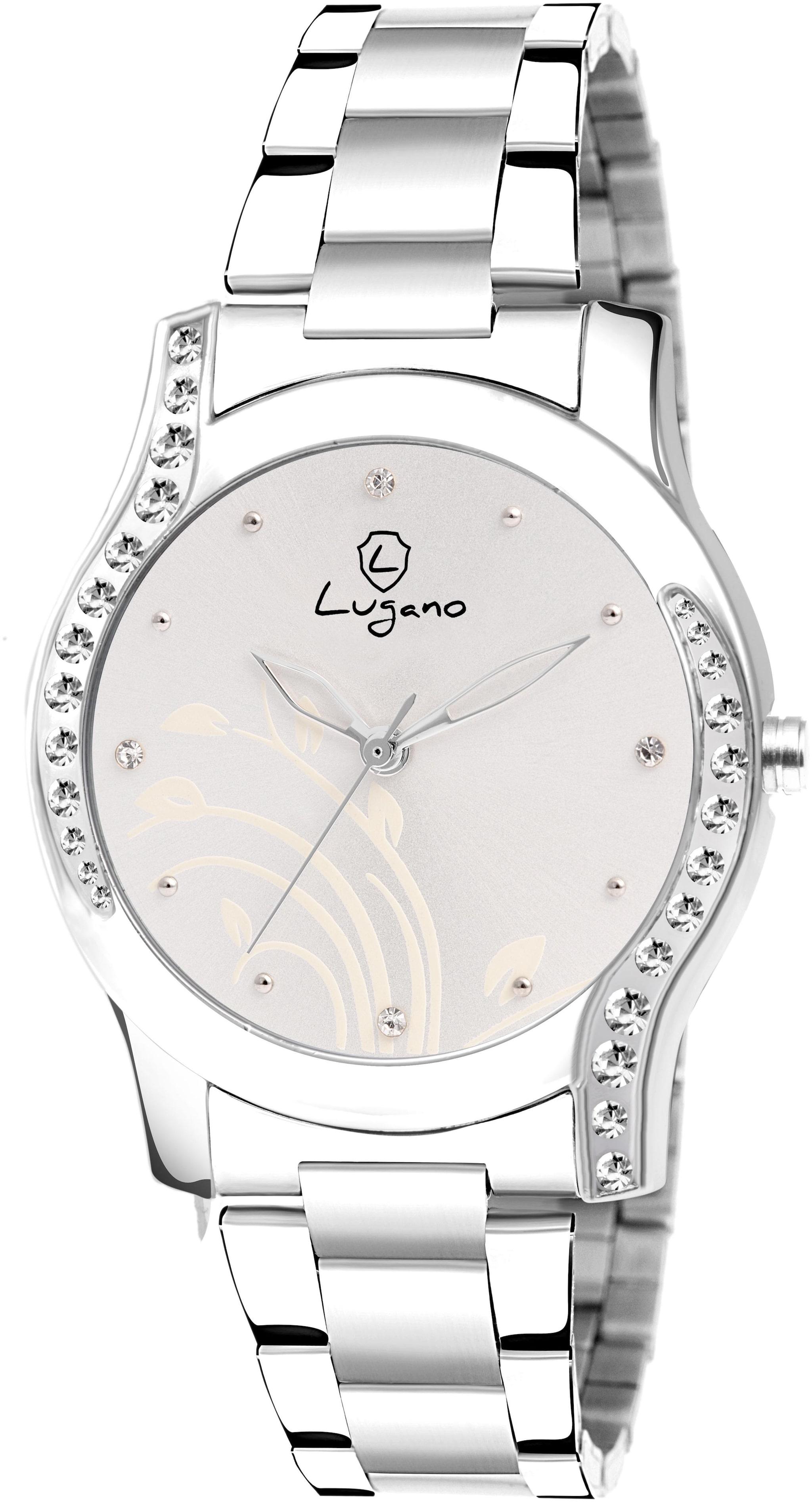 lugano LG 2089 Women Silver Analog Watch by Disha Enterprises