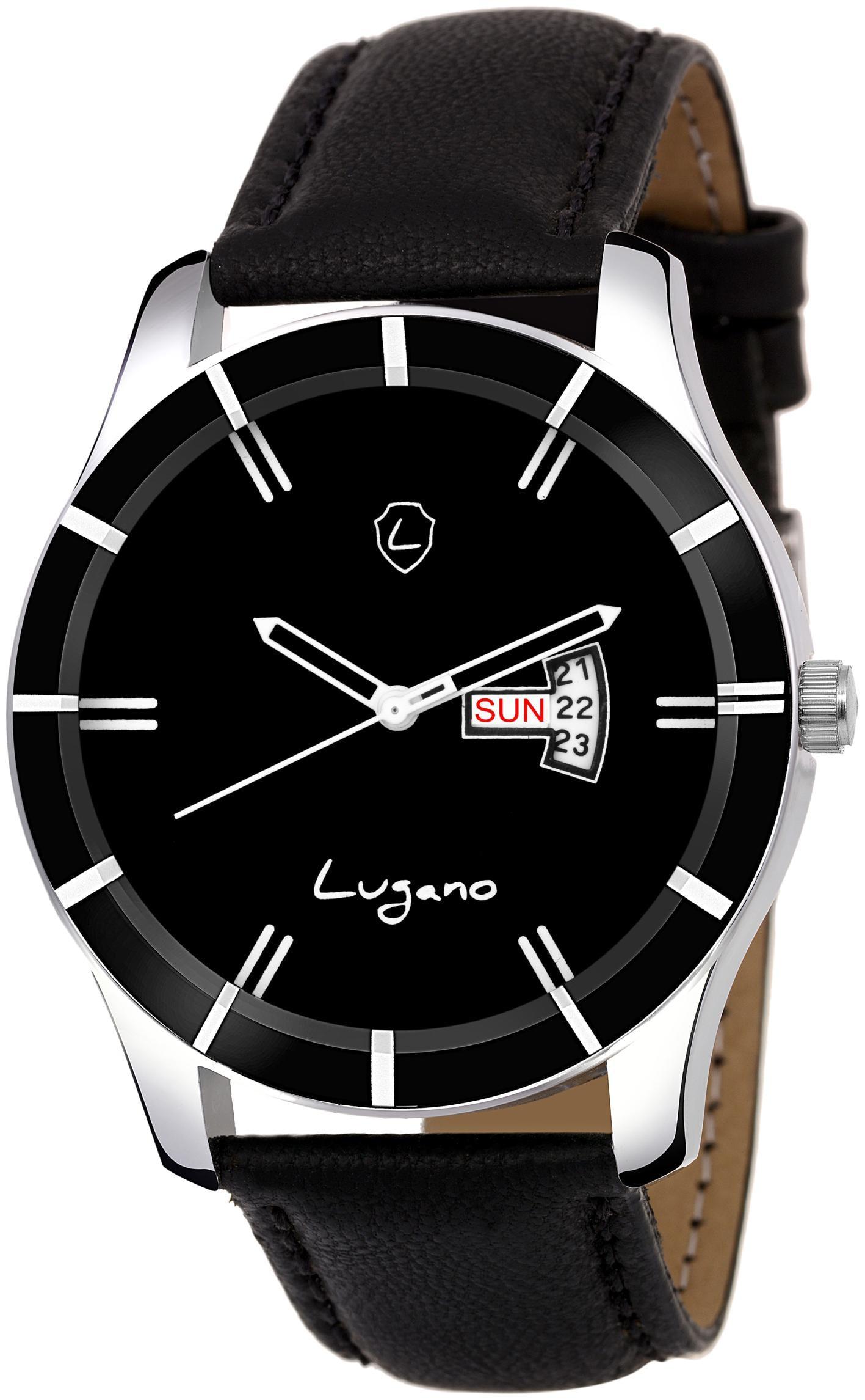 lugano LG 1184 Men Black   Analog Watch by Disha Enterprises