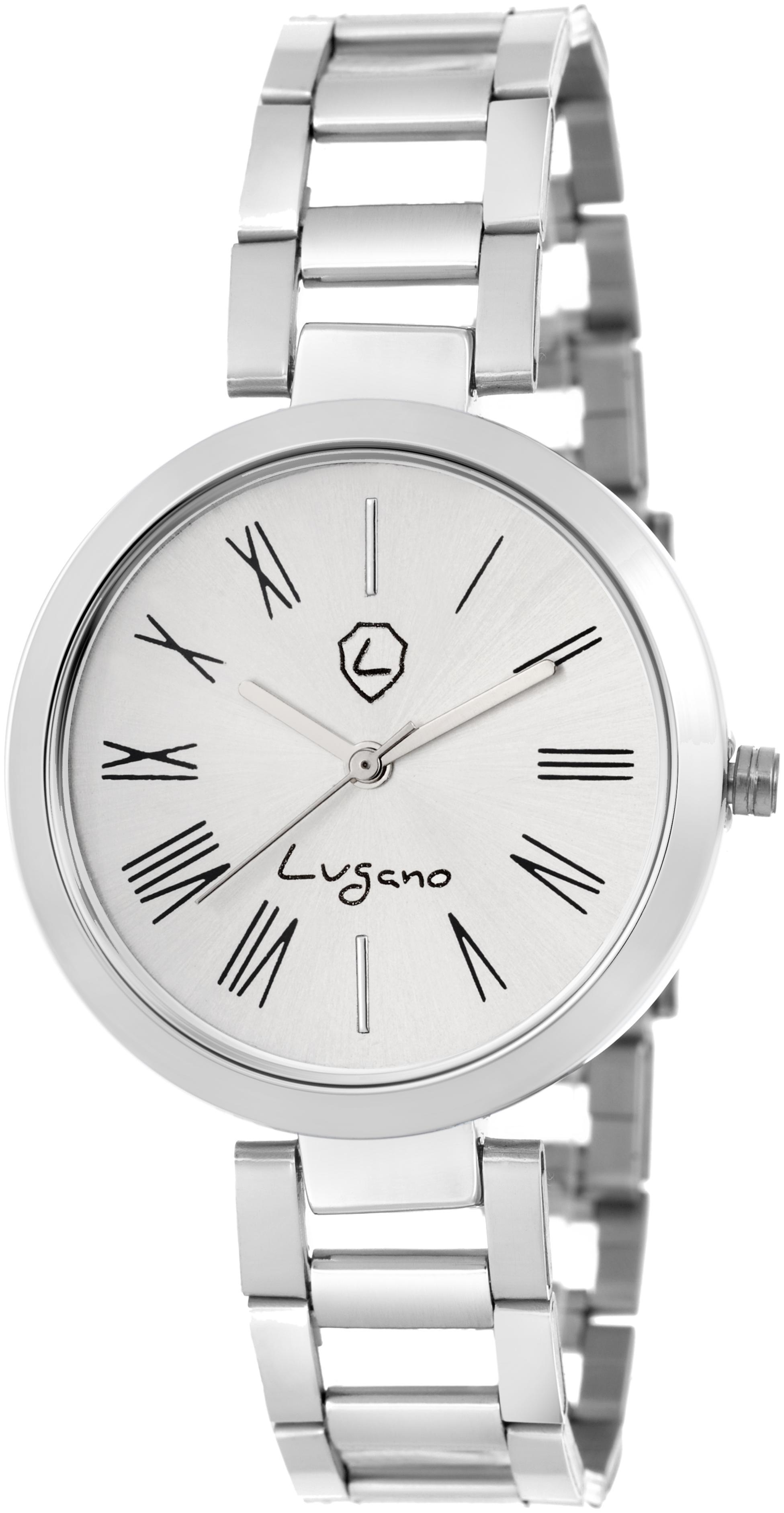 lugano LG 2041 Women White Analog Watch by Disha Enterprises