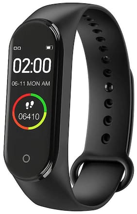 M4 Smart Fitness/Activity Tracker, Heart Rate Body Functions Steps/Calorie Counter, Live Blood Pressure