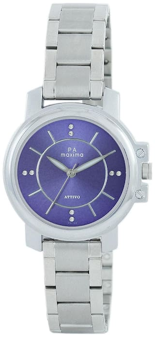 Maxima Casual Stainless Steel Silver Analog Watch For Women