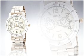 Stainless Steel Men's Analog Watch- Silver
