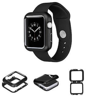 MENDLY Compatible with iWatch Band 42mm Case, Stainless Steel Mesh with Adjustable Magnetic Closure for iWatch Band Series 3 2 1
