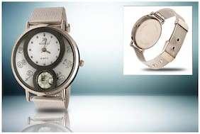 Women Silver Ananlog Watch
