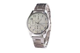 Man Analog Watch-Silver