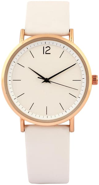 Women's Analog Watch- White