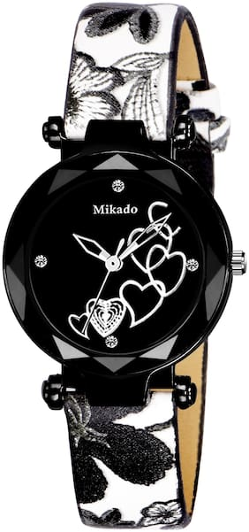 Mikado Black Core Analog Watch For Women And Girls Analog Watch For Women