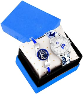 Mikado Blue Alice New Analog Watches Combo For Girls And Women Analog Watch For Women