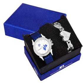 Mikado Exclusive Design Butterfly Watch Combo For Women And Girls Analog Watch For Girls