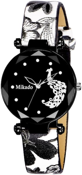 Mikado Style Black Analog Watch For Girls Analog Watch For Girls