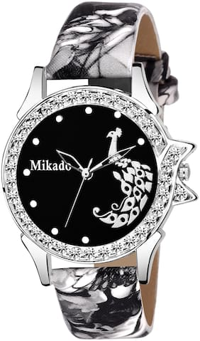 Mikado Stylish Sophia Black Analog watch for Girls And Women Analog Watch - For Girls