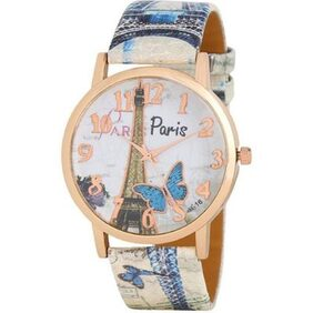 Miss Perfect Paris Affil Butterfly Tower New Arrival Leather MulticolourFor Women And Girls Watch