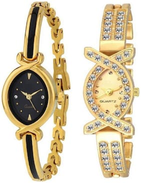 MISS PERFECT Stylish R-1274 Braslate strap strap Women Watch - For Girls Pack of 2
