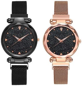 Miss Perfect Black;Rose Gold Analog Watch For Women