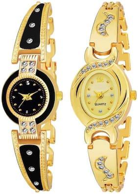 Women Black;Gold Analog Watch
