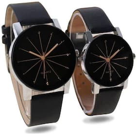 Miss Perfect Men And Women Crytal Primid Couple Watch