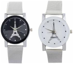 Miss Perfect Metal Whiteand Black COmbo Dial Metal Collection Best new Watch for Women and Gilrs