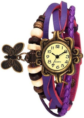 Miss perfect Dori-007 NEW WHITE LEATHER BRACELET WATCH FOR LADIES and GIRLS Analog Watch
