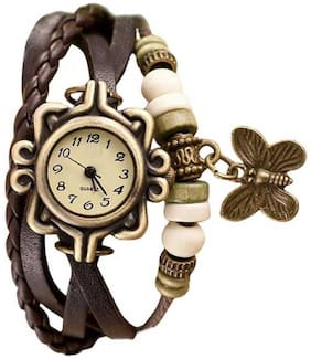 Miss perfect 01S1P03 rakhi collation butterfly green leather belt vintage attractive watch for women Analog Watch