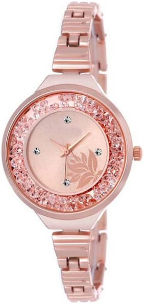 MISSPERFECT Rose Gold slim belt movable crystals rosegold attractive flower dial watch for women Watch - For Girls