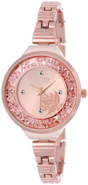 3406709c4c14 MISSPERFECT Rose Gold slim belt movable crystals rosegold attractive flower dial  watch for women Watch -