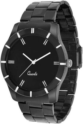 MISSPERFECT Black SLim Analog watch for Men's and Boy's Watch - For Men