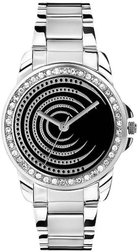 MissPerfect Ladies Crystal Studded Ring 2112 Black Watch - For Women
