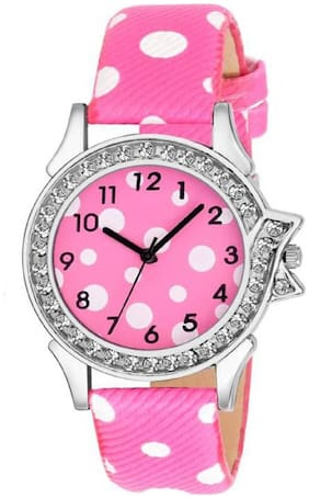 MISSPERFECT Limited~Edition Pink Leather Strap Attractive Stylish Women Watch
