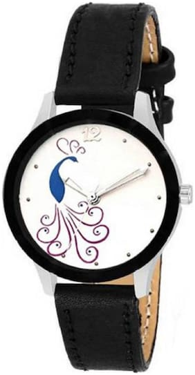 MISSPERFECT New Stylish Designer Peacock Print Dial Leather Belt Watch For Girls & Women TC-67 Watch