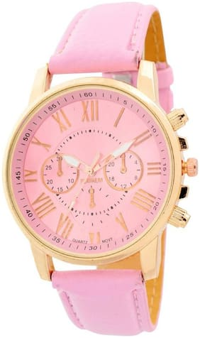 MISSPERFECT Wedding Collection Pink Chronograph Look Blue Strap Best Deal Fast Selling Woman Watch