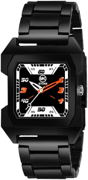Mkstone Analogue full Squre  Black Dial Chain Men's Watch-109