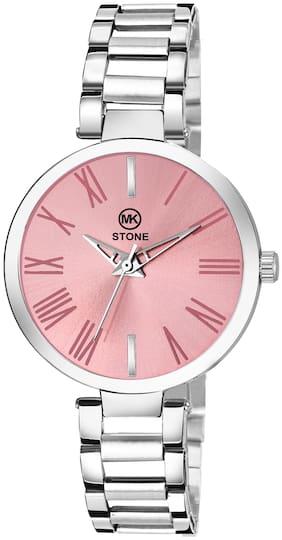 Mkstone Analog Pink Dial Women's Watch MK 109
