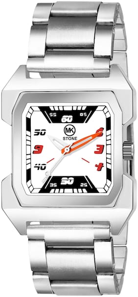 Mkstone Analogue Squre  white Dial Chain Men's Watch-108