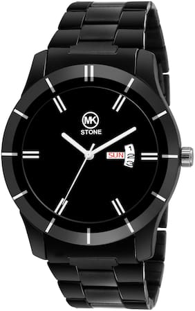 mkstone -BK Black Day & Date Watch - For Men