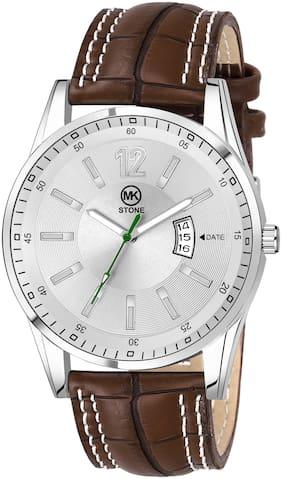 Mkstone Silver Dial Date Analog Watch-MK3093