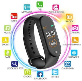 QUXXA M4 Smart Bracelet Heart Rate Monitor Bluetooth Smartband Health Fitness Tracker Smart Band Wristband For Android IOS