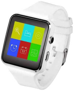 QUXXA X-6 Smart Watch Accessories with Camera;Touch Screen;Sim Card & SD Card Support for Smartphones (White)