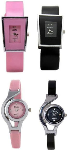 Multicolor combo of 4 watch for Girls and Women