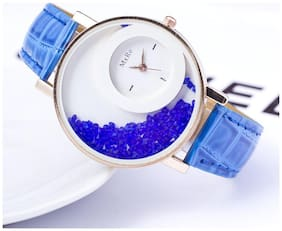 Mxre Brand Blue Diamond Watch For Woman