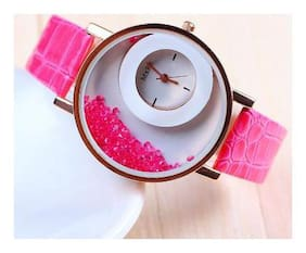 Mxre Brand Pink Diamond Watch For Woman