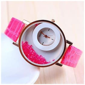 MxRe Brand Pink Diamond Watch For Woman(Pack Of 3)