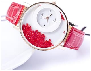 Mxre Red Fancy Analog Watches