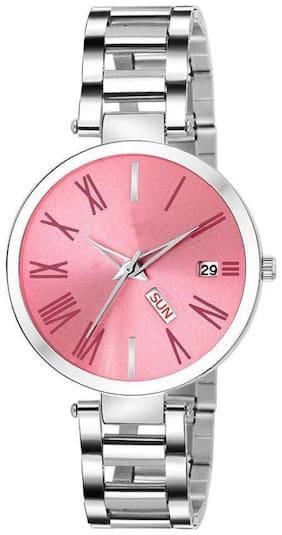 Women Pink Analog Watch