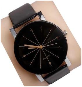 New Diamond Cut Glass Leather belt 765 watch For Women Analog Analog Watch