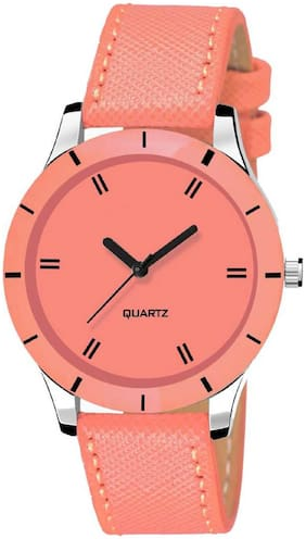 Locate New Premium Quality Cut Glass Orange Analog Watch