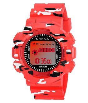 new sport model fancy look PU Digital Men's Watch